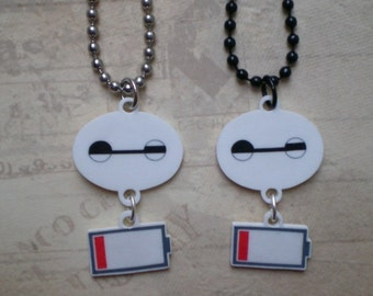 Baymax Looooooow Battery Necklace