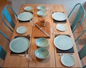 Handmade porcelain dinner set