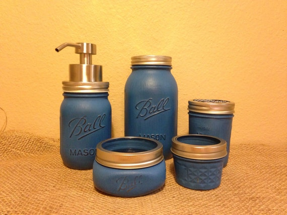 items similar to bathroom accessories jar bathroom