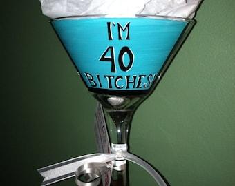 40th Martini Glass