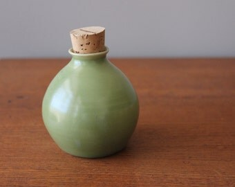 Soft Green Oil Decanter