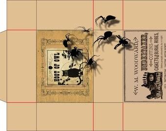 Halloween, Vintage Printable Party Treat boxes, Printable boxes Trick or treat, Party treats