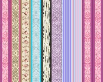 Paper Bead Designer Kit Vintage Pastel  Templates for Paper Beads Kit 3