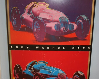 Andy Warhol CARS Mercedes Benz Vintage Poster, Framed