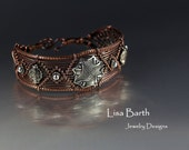 Woven Copper Bracelet with Sterling Accents