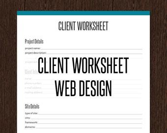 Client arbeitsblatt pdf | Etsy