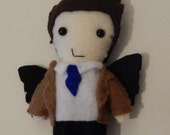 Fanmade Castiel Angel felt Plush doll (MADE TO ORDER)
