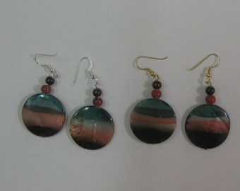 Beach Colors Dangle Earrings