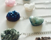 PRICE CUT: 70 % off Simply Stunning Quartz Druzy Necklace