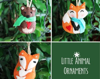 Felt Woodland Creatures Ornaments