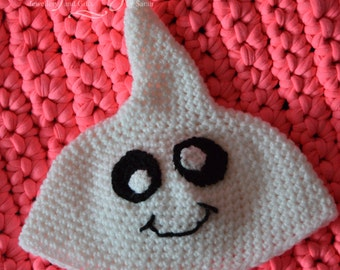 Cute crochet ghost hat, 3 - 6 months, ready to ship