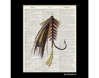 Hand tied fly etsy for Dirty hooker fishing gear