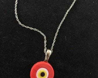 Red evil eye necklace
