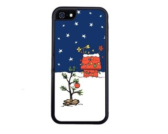 Charlie Brown Inspired Christmas Tree Phone Case For The iPhone 4/4s, 5/5s, 5c 6/6s, 6/6s Plus, 7 or 7 Plus