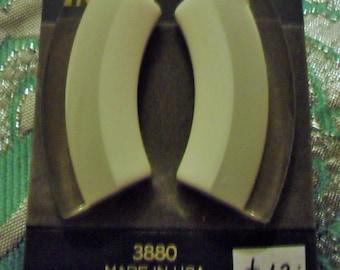 Vintage 1980s Trifari 3880 pierced earrings lucite *UNWORN* nos