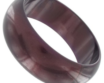 Purple Plastic Bangle Bracelet Vintage 1970s