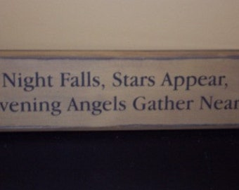 Night Falls Stars Appear Evening Angels Gather Near
