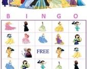Disney Princess Bingo Including Elsa & Anna