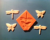 BUTTERFLY DRAGONFLY- Food Grade Silicone Mold for Fondant, Chocolate and Sugarpaste.