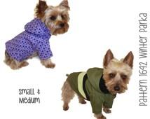 Winter Dog Coat Pattern 1642 * Small & Medium * Dog Clothes Sewing Pattern * Dog Coat * Dog Jacket * Boy Dog Clothes * Girl Dog Clothes