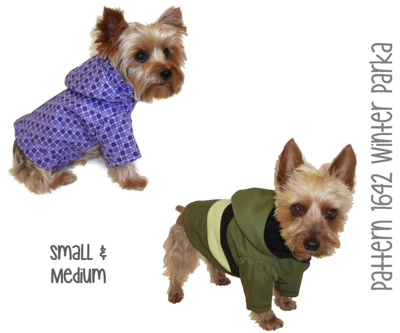 Winter Dog Coat Pattern 1642 Small & Medium by SofiandFriends