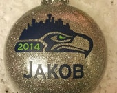 Custom Personalized Seattle Seahawks Ornament