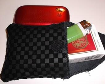 Cigarette & Phone Case with Velcro closer.