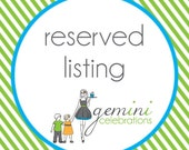 Reserved Listing for VERONICA