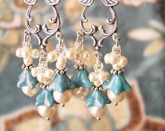 Long Maya Blue Earring Kit