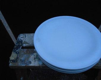 Three Light Blue Melamine Plates