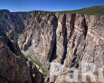 Fine Art Print of Pegmatite Dikes in the Black Canyon of the Gunnison - Colorado, USA