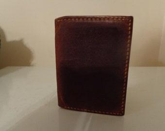"""Vintage""""Torel"""" Genuine Leather Cowhide Billfold, 1960's - Vintage Men's Billfold - Vintage Men's Credit Card Holder - Vintage Men's Wallet"""