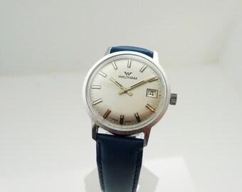 Waltham Men's Watch 1960's Swiss 7 Jewel Manual Movement