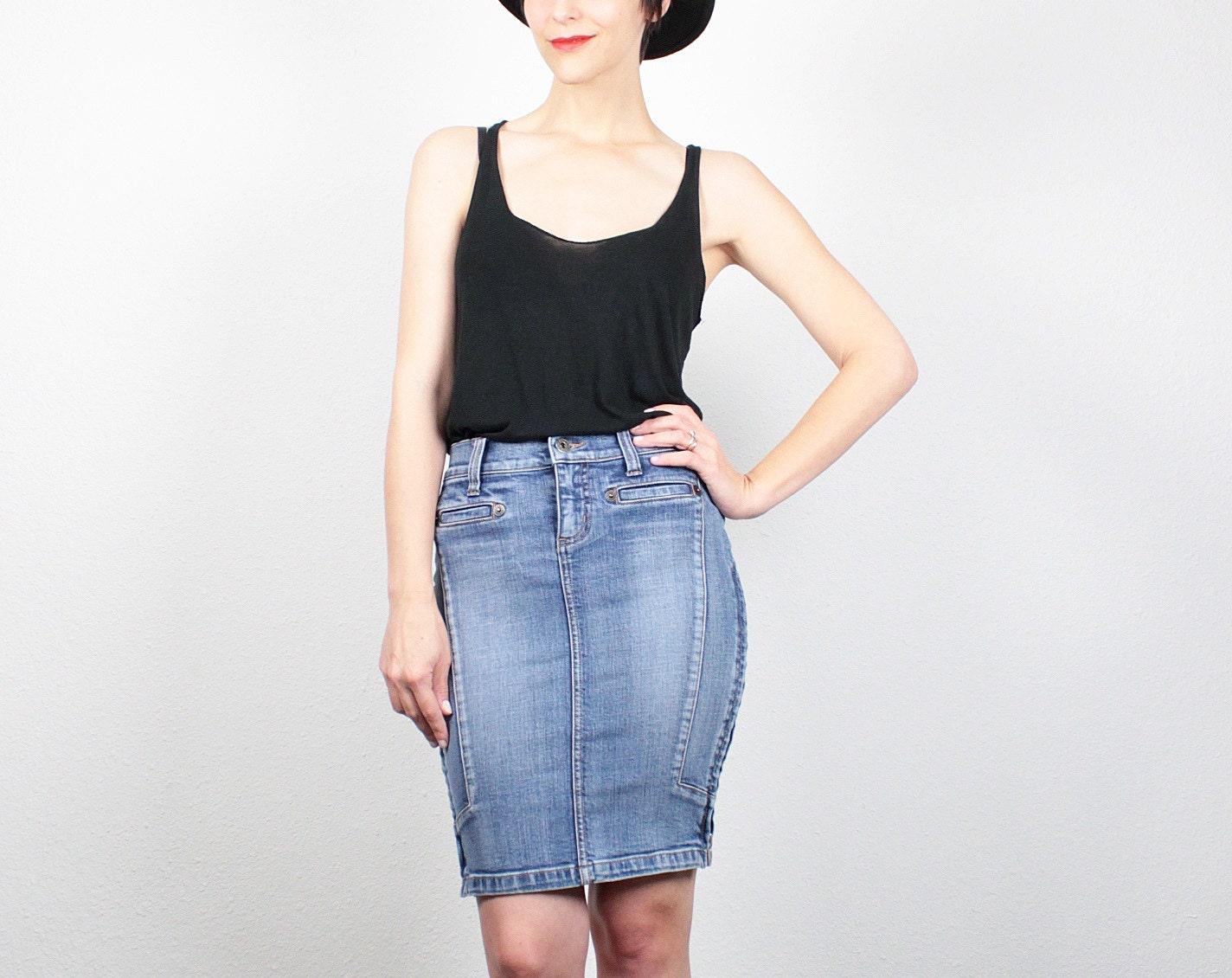 vintage 90s skirt denim skirt 1990s skirt by shoptwitchvintage