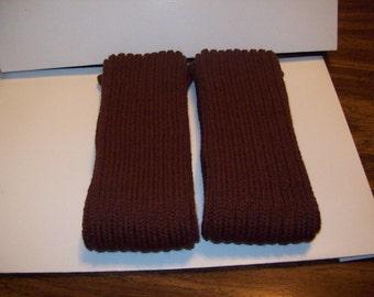 Brown Knitted Legwarmers, Excercise, Arm Warmers, Dance Legwarmers, Boot Legwarmers