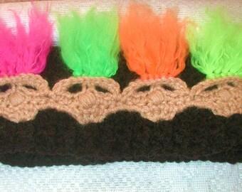 PDF  Creepy  Trolls  Crochet   Hat And Head Warmer  Pattern