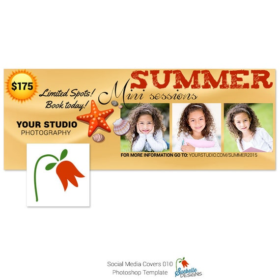 Summer Mini Sessions Social Media Covers Photoshop Template 3-Pack 010