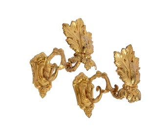 Antique French Gold Ormolu Curtain Tie / Hold Backs, C1880