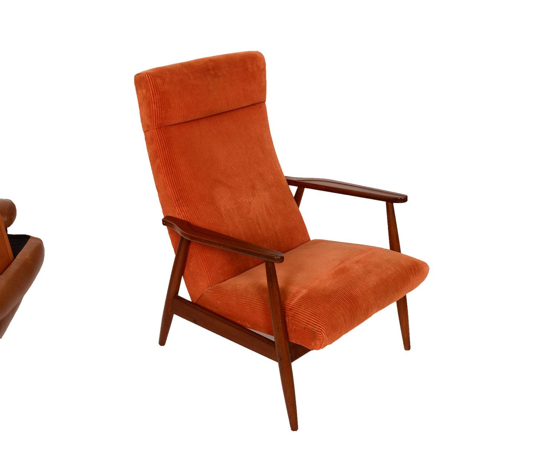 Teak Lounge Chair Danish Modern Mid Century by HearthsideHome