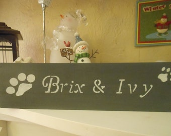 Personlized Pet Sign-Two Names