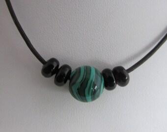 Black Onyx Jewelry, Malachite Jewelry, Green Jewelry, Black Jewelry, Silver Necklace