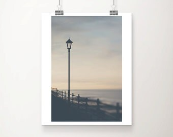 street light photograph cromer photograph coastal print beach decor sunset photograph landscape photograph ocean photograph english decor