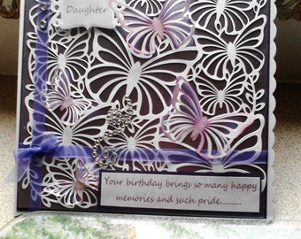 8 x 8 card, background colour by choice