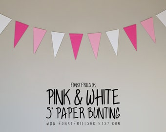 Pink & White Paper Bunting