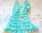 Flower girl dress- Light Aqua Lace Dress, Girls dress, baby girls dress,Birthday dress,Elsa dress, flower girl lace dress, lace dress,Girls