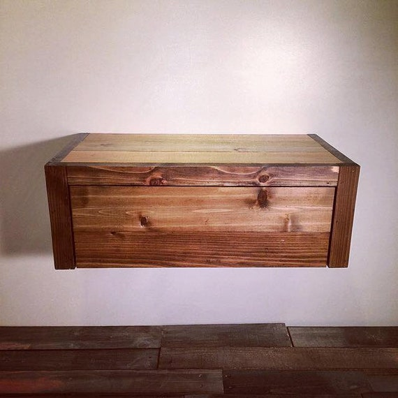flottant grange bois style table de chevet bout de table. Black Bedroom Furniture Sets. Home Design Ideas