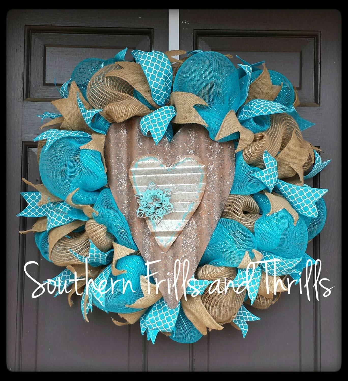 Deco Mesh Wreath Outdoor Wreath Front Door By Southernthrills