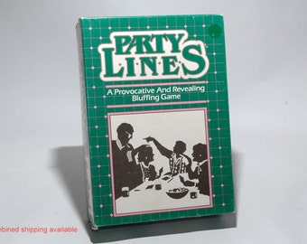 Party Lines Game from Parker Brothers 1985 COMPLETE (read description)