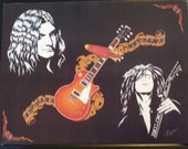 "Led Zeppelin in Art is a Limited Edition, 10""x13"", Numbered Print of Original by artist Charles Freeman"