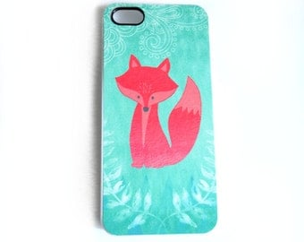 Mint Coral iPhone 5s, Precious Fox iphone 6, iPhone 5 Case, iPhone 4 Case, iPhone 4s Case, Samsung Galaxy s4 s3,  iPhone Cover